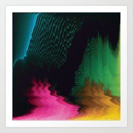 Dreamscape - Glitch Art Art Print