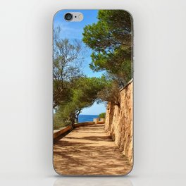 Mediterranean walkway iPhone Skin
