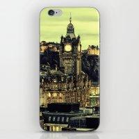 edinburgh iPhone & iPod Skins featuring Edinburgh by EclipseLio