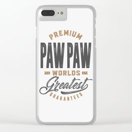 Gift for PawPaw Clear iPhone Case