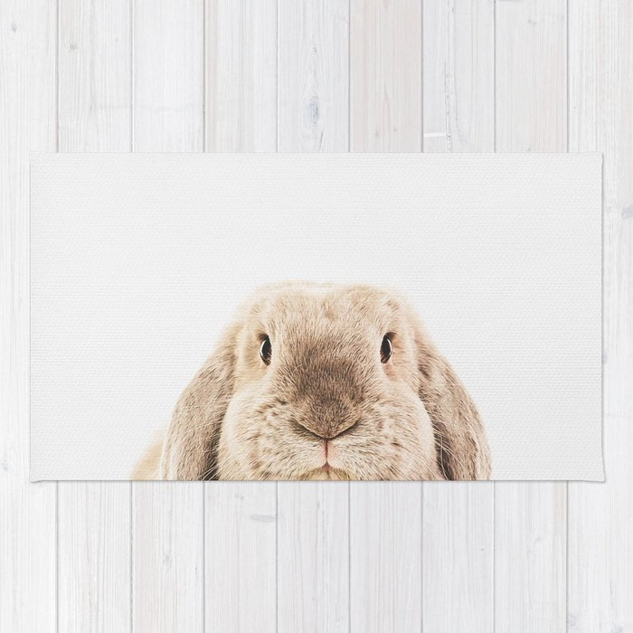 Bunny Rabbit Rug By Theark Society6