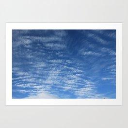Cloudy Sky / Cielo nublado Art Print