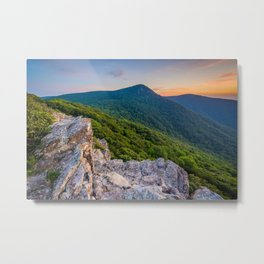 Hawksbill Mountain Metal Print