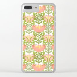 King Protea Flower Pattern - yellow Clear iPhone Case