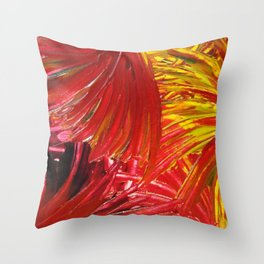 FIREWORKS IN RED - Stunning Bright Bold Autumn Colors Leaves Fall Festival 2012 Firecrackers Lights Throw Pillow