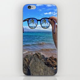 Hawaii Sunglasses Palmtrees iPhone Skin