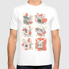 Cigarettes Deluxe MEDIUM White Mens Fitted Tee