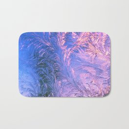 Ice Fractals Bath Mat