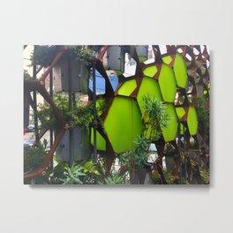 Vertical Urban Garden Metal Print