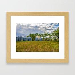 Grain Bins 2 Framed Art Print