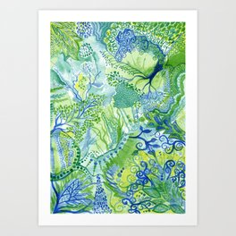 Growth - Watercolor abstract painting Art Print