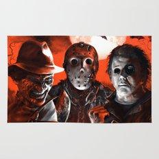 Freddy Krueger Jason Voorhees Michael Myers Super Villians Holiday Rug