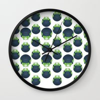 minions Wall Clocks featuring Minionski by little pineberries