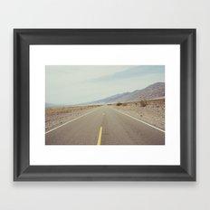 high way  Framed Art Print