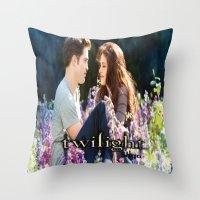 saga Throw Pillows featuring Twilight Saga by ezmaya