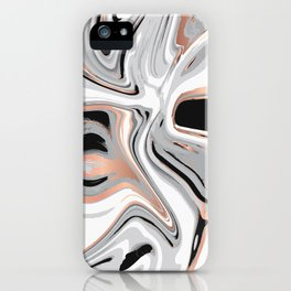 Liquid Marble with Copper Lines 015 iPhone Case