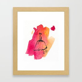 Retro Chic Runway Dress 7 Framed Art Print