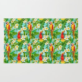 Tropical Parrot Chillin Rug