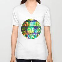alphabet V-neck T-shirts featuring Alphabet by itsme23