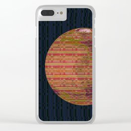 Stripey Mars Clear iPhone Case