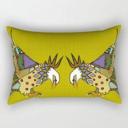 jewel eagle chartreuse Rectangular Pillow
