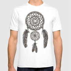 Double Dream Catcher Mens Fitted Tee MEDIUM White