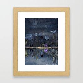 童話與現實的邊緣 Living between Fairy Tale and Reality Framed Art Print