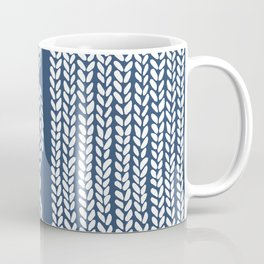 Cable Row Navy 1 Coffee Mug