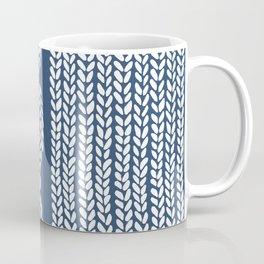 Cable Row Navy 1 Coffee Mug