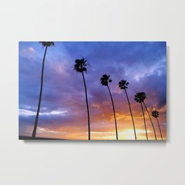 """Butterfly Beach Palms"" Sunsets Metal Print"