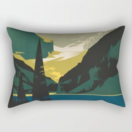 Lovely Lake Louise vintage travel ad Rectangular Pillow
