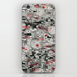 The Flaw Advantage (P/D3 Glitch Collage Studies) iPhone Skin