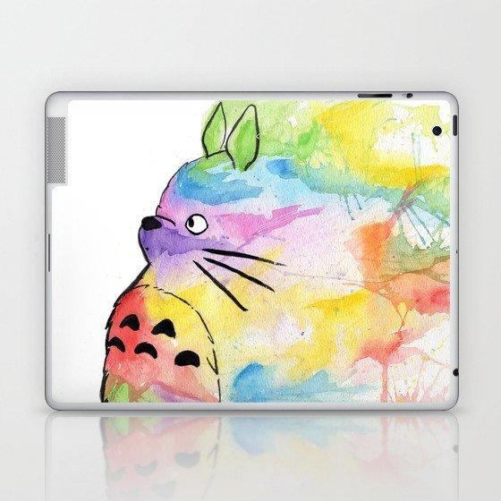 My Rainbow Totoro Laptop & iPad Skin