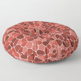 Stained glass colorful voronoi with fillet, vector abstract. Irregular cells background pattern. 2D Floor Pillow