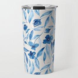 Prussian Floral Travel Mug