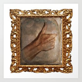 Daguerreotype Thumbs Up Art Print
