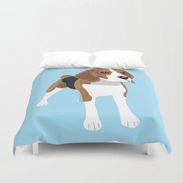 Beagle - Blue Duvet Cover