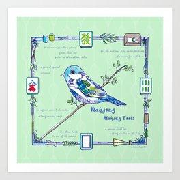 Sparrow Mahjong Art Print