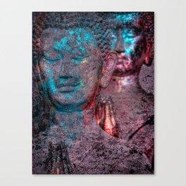 Prayers blueglow Canvas Print