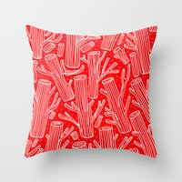 woody Throw Pillows featuring Woody by yellow pony
