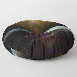 earth sun and moon Floor Pillow