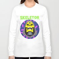 skeletor Long Sleeve T-shirts featuring Skeletor by Michael Keene
