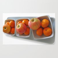 fruit Area & Throw Rugs featuring Fruit by Cornish Seascapes