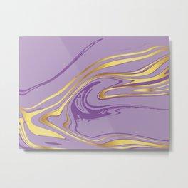 Violet Gold Marble Metal Print
