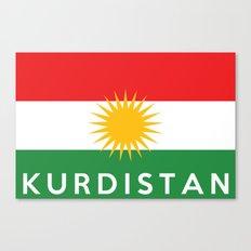 Kurdistan country flag name text Canvas Print