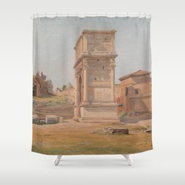 The Arch of Titus in Rome 1839 Shower Curtain