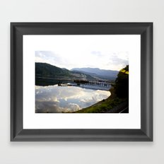 Reflections of Clouds in the crystal blue water Framed Art Print