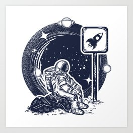 Astronaut in space Art Print