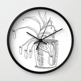 pitcher plant Wall Clock
