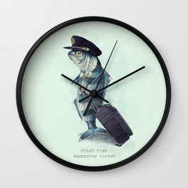 The Pilot (colour option) Wall Clock